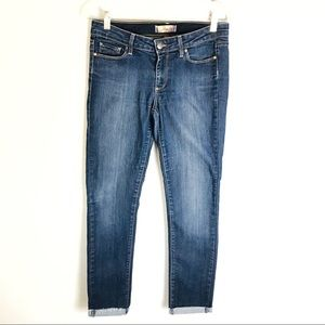 Paige Cropped Rolled Dark Jeans